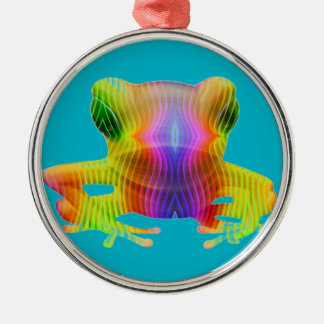 Rainbow Tree Frog Christmas Ornament
