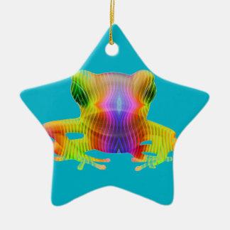 Rainbow Tree Frog Christmas Ornament
