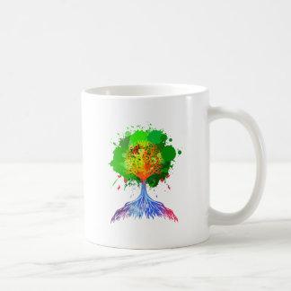 Rainbow Tree of Life Basic White Mug