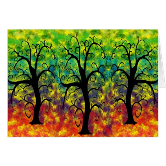 Rainbow Tree of Life Card