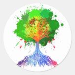 Rainbow Tree of Life Classic Round Sticker