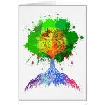 Rainbow Tree of Life Greeting Card