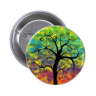 Rainbow Tree of Life Moon Button
