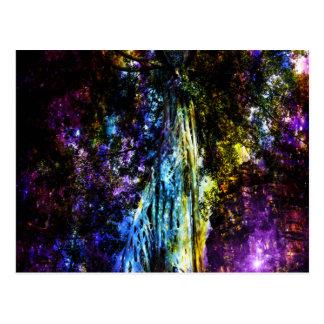 Rainbow Tree Postcard