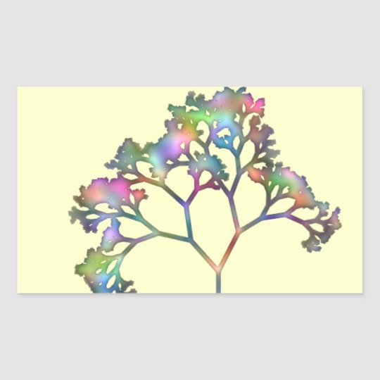 Rainbow Tree Rectangular Sticker