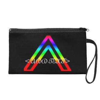 Rainbow Triange Wristlet