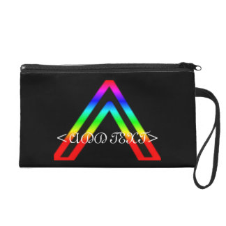 Rainbow Triange Wristlet Clutch