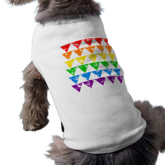 Rainbow Triangles pet clothing
