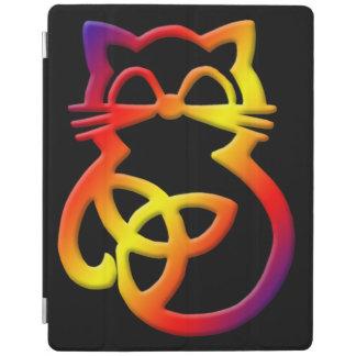 Rainbow Trinity Knot Celtic Cat iPad Smart Cover