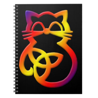 Rainbow Trinity Knot Celtic Cat Notebook
