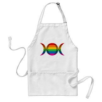 Rainbow Triple Goddess Symbol Apron