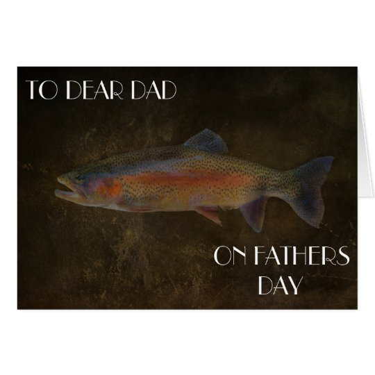 RAINBOW TROUT FATHERS DAY GREETING CARD