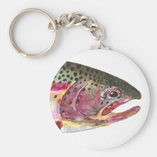Rainbow Trout Fish Keychain