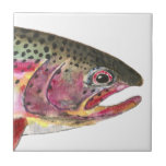 Rainbow Trout Fish Small Square Tile