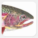 Rainbow Trout Fish Square Sticker