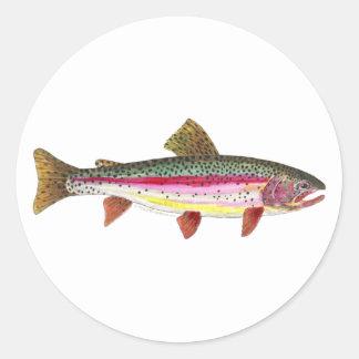 Rainbow Trout Fish Round Sticker