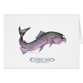 Rainbow Trout fish, tony fernandes Card