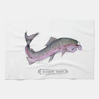 Rainbow Trout fish, tony fernandes Tea Towel