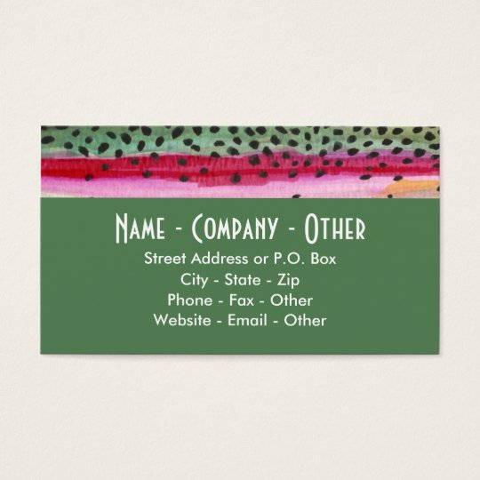 Rainbow Trout Fishing Business Card