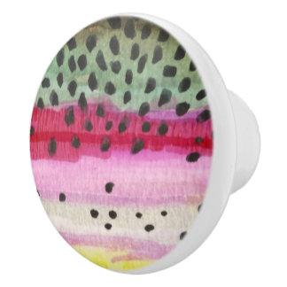 Rainbow Trout Fishing Ceramic Knob