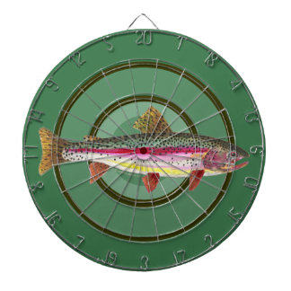 Rainbow Trout Fishing Dartboard