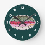 Rainbow Trout Fishing Wall Clocks