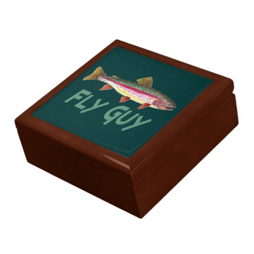 Rainbow trout fly fishing zazzle for Fishing gift box