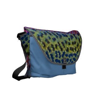 Rainbow Trout Fly Fishing Satchel Commuter Bag