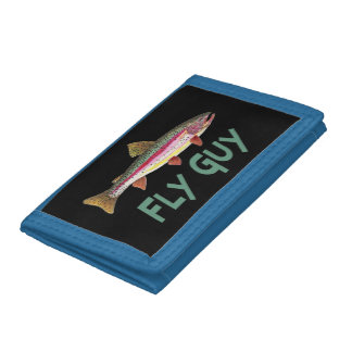 Rainbow Trout Fly Fishing Trifold Wallets