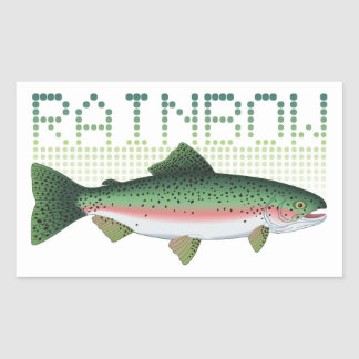 Rainbow trout gift for an angler or fisherman rectangular sticker