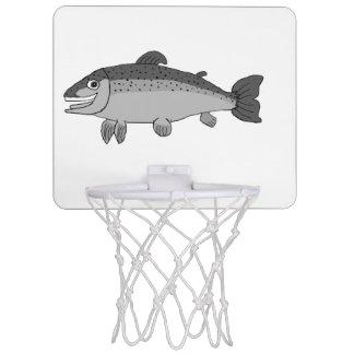 Rainbow trout mini basketball hoop