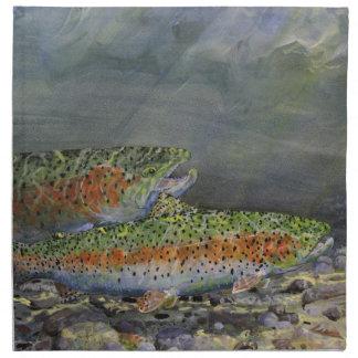 Rainbow trout napkin