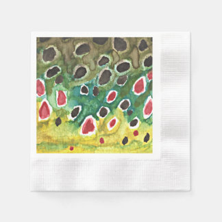 Rainbow Trout Paper Napkin
