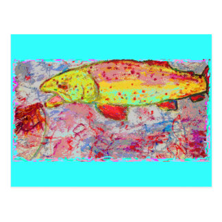 Rainbow Trout peace on earth Postcard