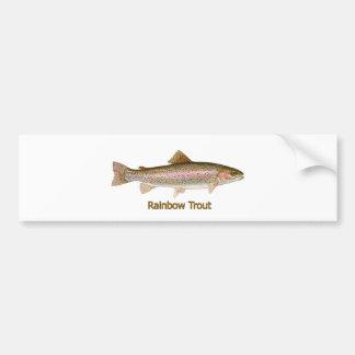 Rainbow Trout (titled) Bumper Sticker