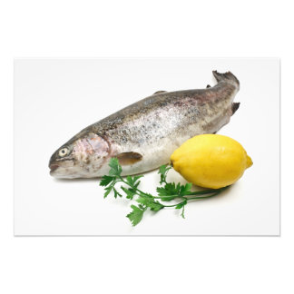 rainbow trout with lemon and parsley photograph