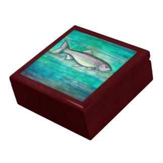 Rainbow Trout Wooden Trinket Box