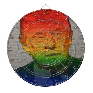 Rainbow Trump Dartboard With Darts