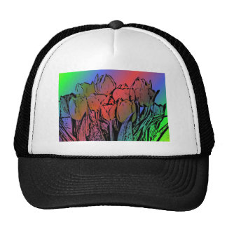 Rainbow Tulips Cap