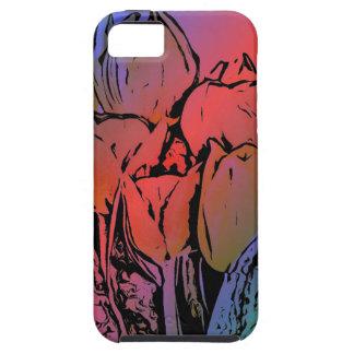 Rainbow Tulips iPhone 5 Case