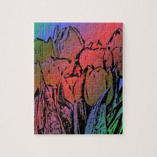 Rainbow Tulips Jigsaw Puzzle