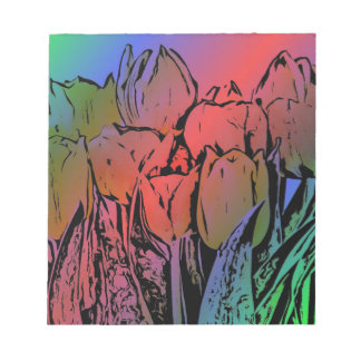 Rainbow Tulips Notepad