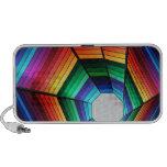 Rainbow tunnel abstract design iPhone speaker