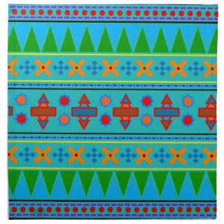 Rainbow turquoise aztec tribal pattern napkin
