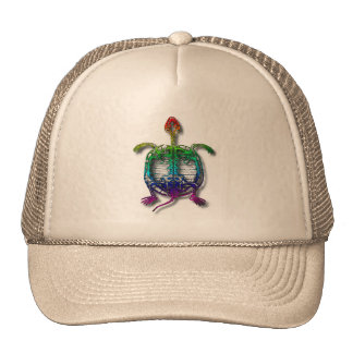 Rainbow Turtle Funny Fossil With Your Name Cap