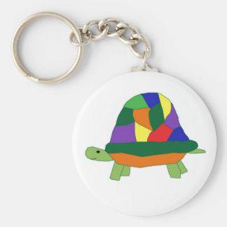 Rainbow Turtle keychain