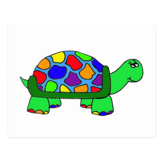 Rainbow Turtle Postcard