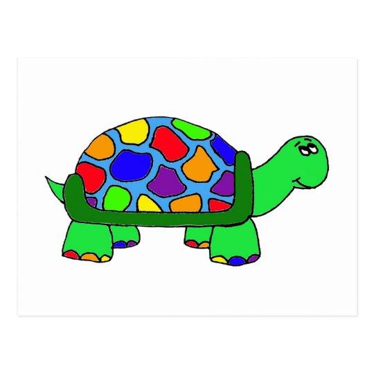 Rainbow Turtle Postcard Zazzle Co Uk