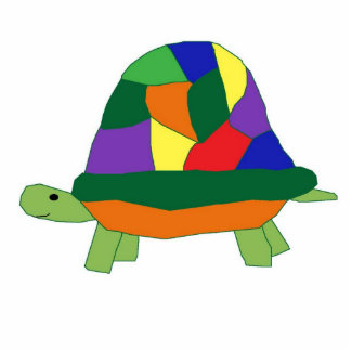 Rainbow Turtle sculpture Standing Photo Sculpture