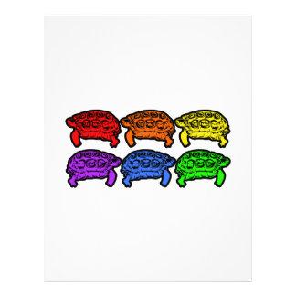 Rainbow Turtles 21.5 Cm X 28 Cm Flyer